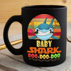 BigProStore Vintage Bay Shark Doo Doo Doo Coffee Mug Retro Shark And Rose Womens Custom Father's Day Mother's Day Gift Idea BPS756 Black / 11oz Coffee Mug