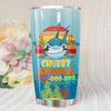 BigProStore Vintage Chubby Shark Doo Doo Doo Tumbler Retro Shark And Rose Womens Custom Father's Day Mother's Day Gift Idea BPS458 White / 20oz Steel Tumbler