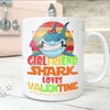 BigProStore Vintage Girlfriend Shark Doo Doo Doo Coffee Mug Retro Shark And Rose Womens Custom Father's Day Mother's Day Gift Idea BPS722 White / 11oz Coffee Mug