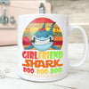 BigProStore Vintage Girlfriend Shark Doo Doo Doo Coffee Mug Retro Shark And Rose Womens Custom Father's Day Mother's Day Gift Idea BPS825 White / 11oz Coffee Mug