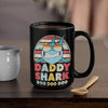BigProStore Vintage Retro Daddy Shark Doo Doo Doo Coffee Mug Mens Custom Father's Day Mother's Day Gift Idea BPS212 Black / 15oz Coffee Mug