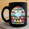 BigProStore Vintage Retro Grandpa Shark Doo Doo Doo Coffee Mug Mens Custom Father's Day Mother's Day Gift Idea BPS973 Black / 11oz Coffee Mug