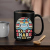 BigProStore Vintage Retro Grandpa Shark Doo Doo Doo Coffee Mug Mens Custom Father's Day Mother's Day Gift Idea BPS973 Black / 15oz Coffee Mug