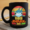 BigProStore Vintage Sober Shark Doo Doo Doo Coffee Mug Retro Shark And Rose Womens Custom Father's Day Mother's Day Gift Idea BPS234 Black / 11oz Coffee Mug