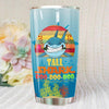 BigProStore Vintage Tall Shark Doo Doo Doo Tumbler Retro Shark And Rose Womens Custom Father's Day Mother's Day Gift Idea BPS141 White / 20oz Steel Tumbler