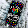 BigProStore World Where You Can Be Anything Be Kind Autism heart Tumbler Idea Tumbler BPS271 Black / 20oz Steel Tumbler