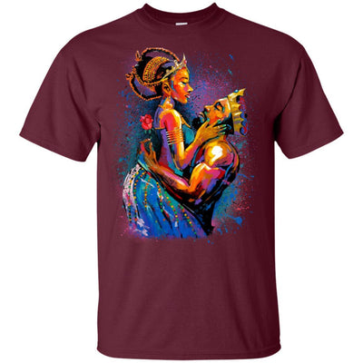 BigProStore African American King Queen T-Shirt For Melanin Women Men Pro Black G200 Gildan Ultra Cotton T-Shirt / Maroon / S T-shirt
