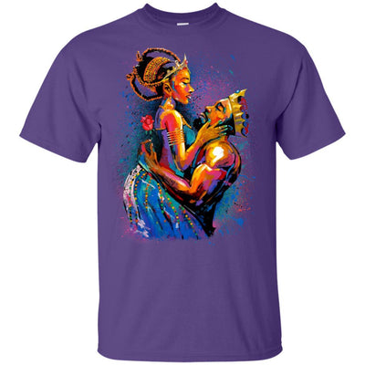 BigProStore African American King Queen T-Shirt For Melanin Women Men Pro Black G200 Gildan Ultra Cotton T-Shirt / Purple / S T-shirt