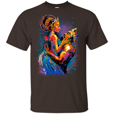 BigProStore African American King Queen T-Shirt For Melanin Women Men Pro Black G200 Gildan Ultra Cotton T-Shirt / Dark Chocolate / S T-shirt