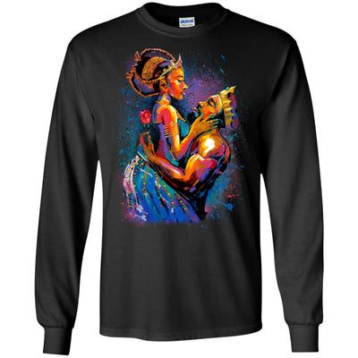 BigProStore African American T-Shirt For Women Men Pro Black People Afro Girl Rock G240 Gildan LS Ultra Cotton T-Shirt / Black / S T-shirt