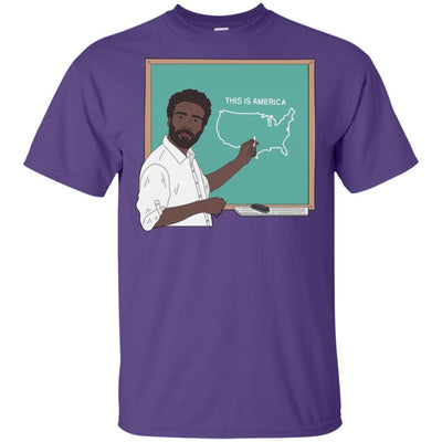 BigProStore Afro Apparel This Is America Pro Black African American Pride T-Shirt G200 Gildan Ultra Cotton T-Shirt / Purple / S T-shirt