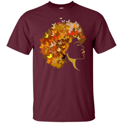 BigProStore Art Black Women T-Shirt African Clothing For Pro Black Pride Afro Girl G200 Gildan Ultra Cotton T-Shirt / Maroon / S T-shirt