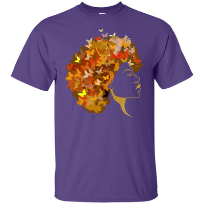 BigProStore Art Black Women T-Shirt African Clothing For Pro Black Pride Afro Girl G200 Gildan Ultra Cotton T-Shirt / Purple / S T-shirt