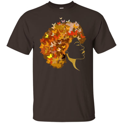 BigProStore Art Black Women T-Shirt African Clothing For Pro Black Pride Afro Girl G200 Gildan Ultra Cotton T-Shirt / Dark Chocolate / S T-shirt