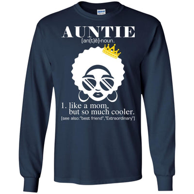 BigProStore Auntie T-Shirt Black Girl Rock African Clothing For Melanin Women Aunt G240 Gildan LS Ultra Cotton T-Shirt / Navy / S T-shirt
