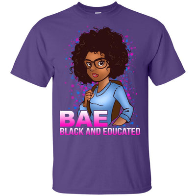 BigProStore Bae Black And Educated Afro Girl Magic T-Shirt For Melanin Women Pride G200 Gildan Ultra Cotton T-Shirt / Purple / S T-shirt