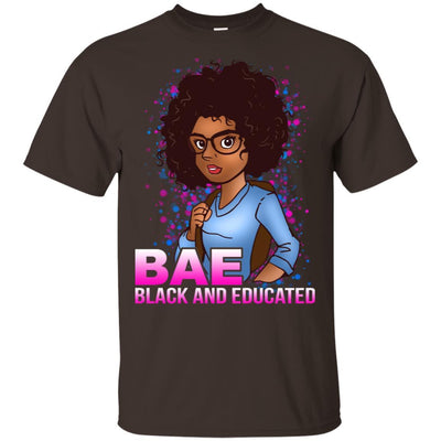 BigProStore Bae Black And Educated Afro Girl Magic T-Shirt For Melanin Women Pride G200 Gildan Ultra Cotton T-Shirt / Dark Chocolate / S T-shirt