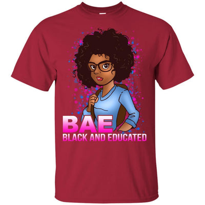BigProStore Bae Black And Educated Afro Girl Magic T-Shirt For Melanin Women Pride G200 Gildan Ultra Cotton T-Shirt / Cardinal / S T-shirt