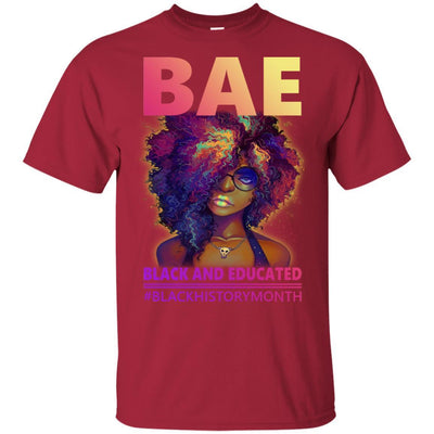BigProStore Bae Black And Educated #Blackhistorymonth Pro African American T-Shirt G200 Gildan Ultra Cotton T-Shirt / Cardinal / S T-shirt