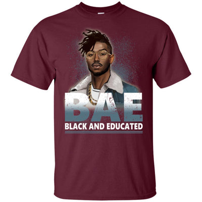 BigProStore Bae Black And Educated T-Shirt African Clothing For Melanin Afro Men G200 Gildan Ultra Cotton T-Shirt / Maroon / S T-shirt