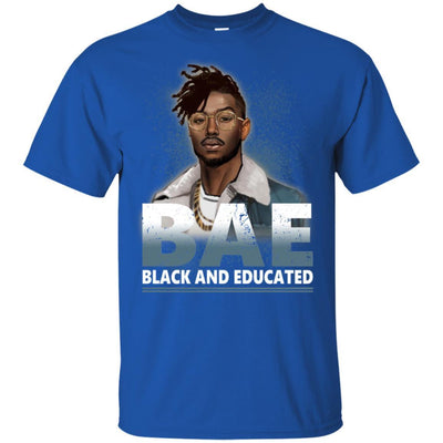 BigProStore Bae Black And Educated T-Shirt African Clothing For Melanin Afro Men G200 Gildan Ultra Cotton T-Shirt / Royal / S T-shirt