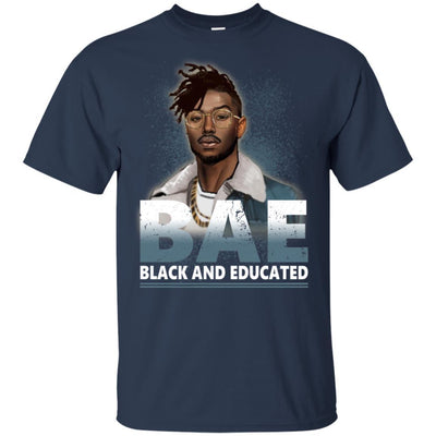 BigProStore Bae Black And Educated T-Shirt African Clothing For Melanin Afro Men G200 Gildan Ultra Cotton T-Shirt / Navy / S T-shirt