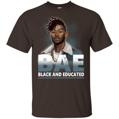 BigProStore Bae Black And Educated T-Shirt African Clothing For Melanin Afro Men G200 Gildan Ultra Cotton T-Shirt / Dark Chocolate / S T-shirt