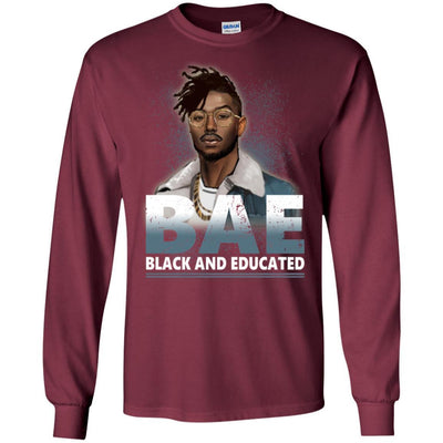 BigProStore Bae Black And Educated T-Shirt African Clothing For Melanin Afro Men G240 Gildan LS Ultra Cotton T-Shirt / Maroon / S T-shirt
