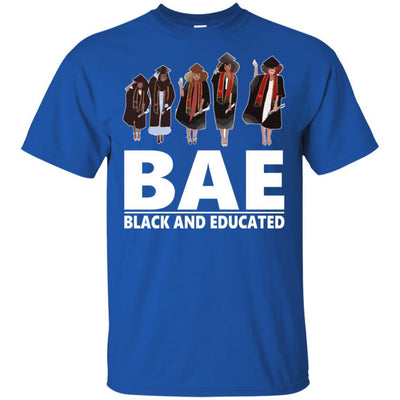 BigProStore Bae Black And Educated T-Shirt African Clothing For Melanin Afro Women G200 Gildan Ultra Cotton T-Shirt / Royal / S T-shirt