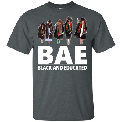 BigProStore Bae Black And Educated T-Shirt African Clothing For Melanin Afro Women G200 Gildan Ultra Cotton T-Shirt / Dark Heather / S T-shirt