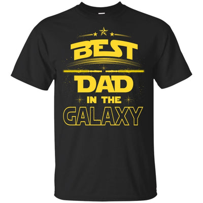 BigProStore Best Dad In The Galaxy T-Shirt Cool Father's Day Gift For Men Brother G200 Gildan Ultra Cotton T-Shirt / Black / S T-shirt