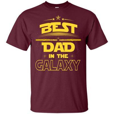BigProStore Best Dad In The Galaxy T-Shirt Cool Father's Day Gift For Men Brother G200 Gildan Ultra Cotton T-Shirt / Maroon / S T-shirt