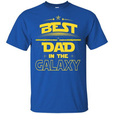 BigProStore Best Dad In The Galaxy T-Shirt Cool Father's Day Gift For Men Brother G200 Gildan Ultra Cotton T-Shirt / Royal / S T-shirt
