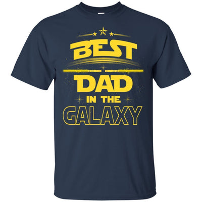 BigProStore Best Dad In The Galaxy T-Shirt Cool Father's Day Gift For Men Brother G200 Gildan Ultra Cotton T-Shirt / Navy / S T-shirt