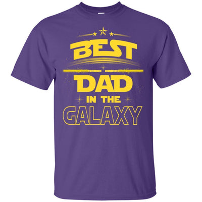 BigProStore Best Dad In The Galaxy T-Shirt Cool Father's Day Gift For Men Brother G200 Gildan Ultra Cotton T-Shirt / Purple / S T-shirt