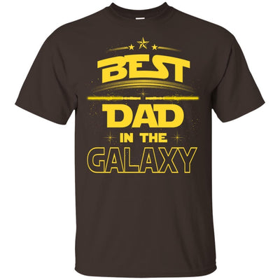 BigProStore Best Dad In The Galaxy T-Shirt Cool Father's Day Gift For Men Brother G200 Gildan Ultra Cotton T-Shirt / Dark Chocolate / S T-shirt