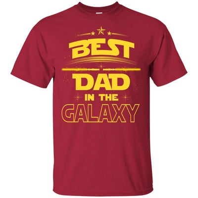 BigProStore Best Dad In The Galaxy T-Shirt Cool Father's Day Gift For Men Brother G200 Gildan Ultra Cotton T-Shirt / Cardinal / S T-shirt