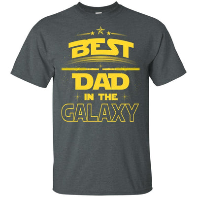 BigProStore Best Dad In The Galaxy T-Shirt Cool Father's Day Gift For Men Brother G200 Gildan Ultra Cotton T-Shirt / Dark Heather / S T-shirt
