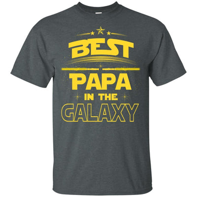 BigProStore Best Papa In The Galaxy T-Shirt Father's Day Unique Men Grandpa Gifts G200 Gildan Ultra Cotton T-Shirt / Dark Heather / S T-shirt