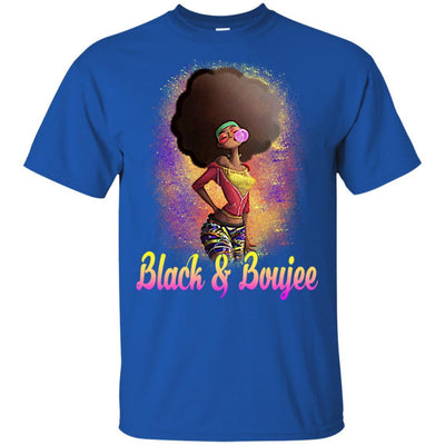 BigProStore Black And Boujee T-Shirt African Clothing For Melanin Poppin Afro Girl G200 Gildan Ultra Cotton T-Shirt / Royal / S T-shirt