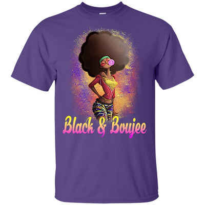 BigProStore Black And Boujee T-Shirt African Clothing For Melanin Poppin Afro Girl G200 Gildan Ultra Cotton T-Shirt / Purple / S T-shirt