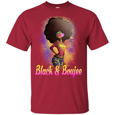 BigProStore Black And Boujee T-Shirt African Clothing For Melanin Poppin Afro Girl G200 Gildan Ultra Cotton T-Shirt / Cardinal / S T-shirt
