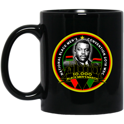 BigProStore Black Men's March Coffee Mug African American Cup For Pro Afro Pride BM11OZ 11 oz. Black Mug / Black / One Size Coffee Mug