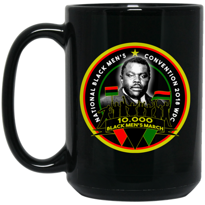 BigProStore Black Men's March Coffee Mug African American Cup For Pro Afro Pride BM15OZ 15 oz. Black Mug / Black / One Size Coffee Mug