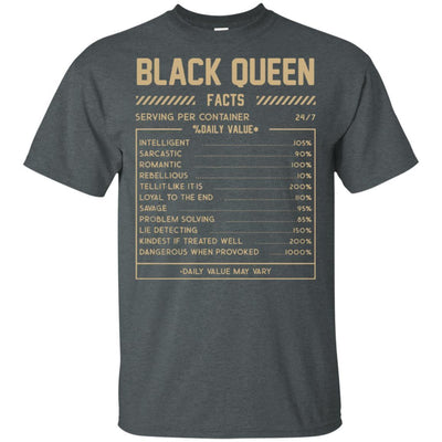 Black Queen Facts African American T-Shirt For Afro Girl Melanin Women BigProStore