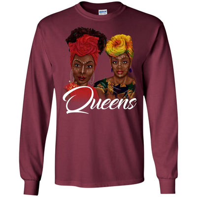 Black Queens T-Shirt African Clothing Design Melanin Poppin Women Rock BigProStore