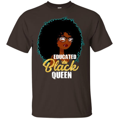 Educated Black Queen T-Shirt African American Apparel For Pro Black