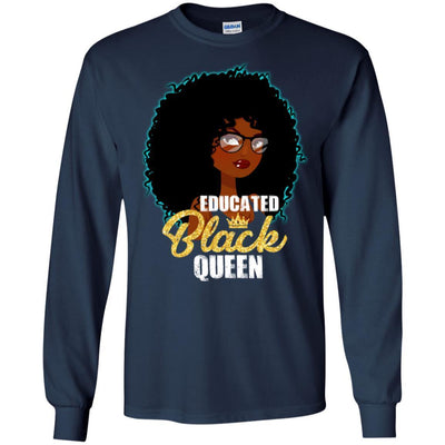 Educated Black Queen T-Shirt African American Apparel For Pro Black BigProStore