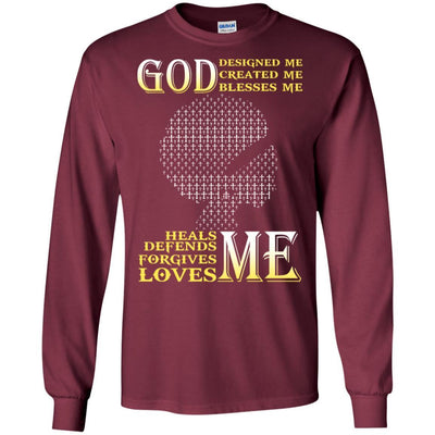 God Designed Created Blesses Me African American Black Women T-Shirt BigProStore