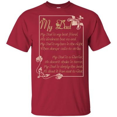 I Love You Dad Poem T-Shirt Special Gift Idea For Daddy Father In Law BigProStore